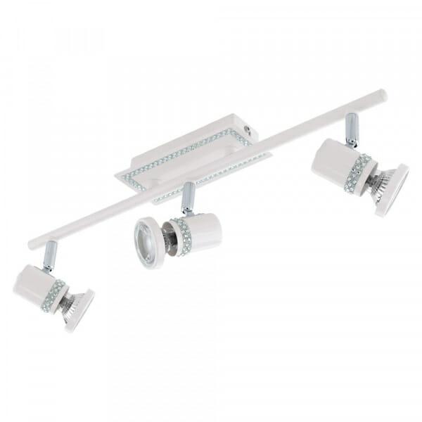 Бял LED спот с кристали Eglo серия Bonares - 3 тела