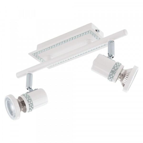 Бял LED спот с кристали Eglo серия Bonares