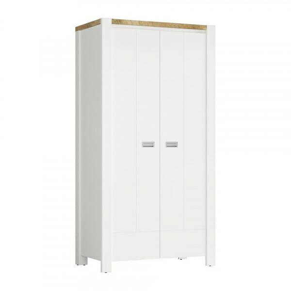 Двукрилен гардероб в скандинавски стил Древизо