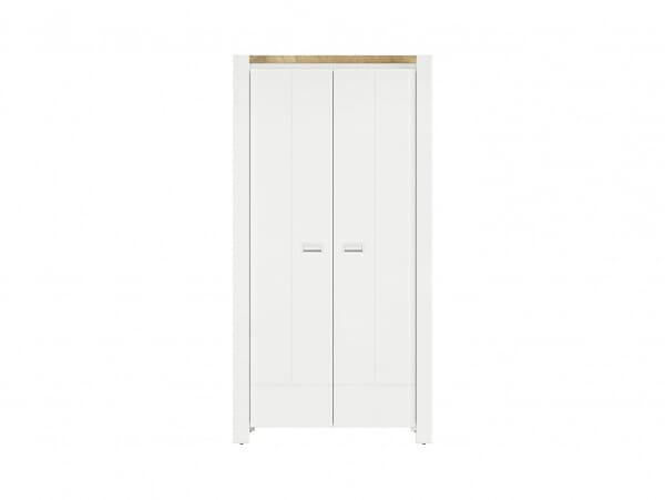 Двукрилен гардероб в скандинавски стил Древизо - отпред