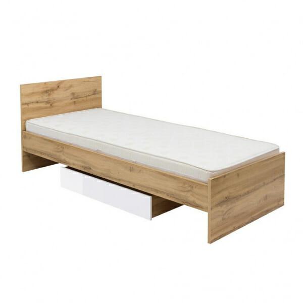 Единично легло в цвят дъб вотан Зелле