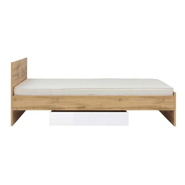 Единично легло в цвят дъб вотан Зелле - отстрани