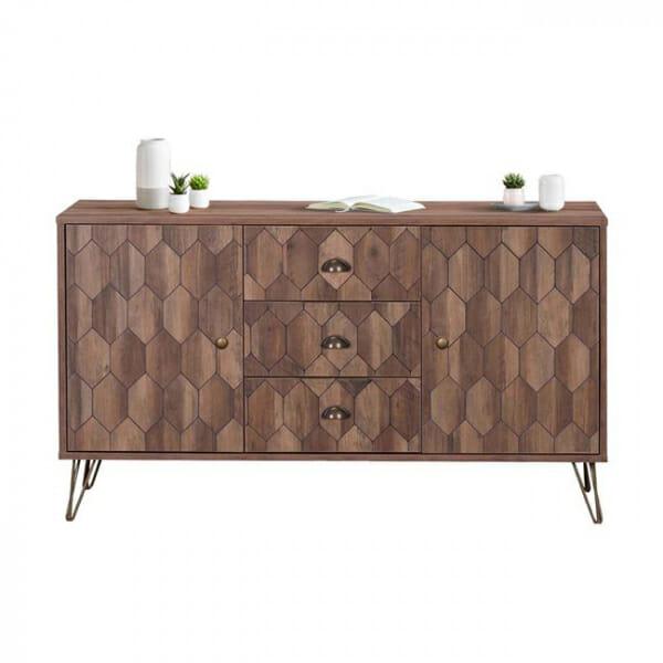 Елегантен шкаф с 2 вратички и 3 чекмеджета серия Федра