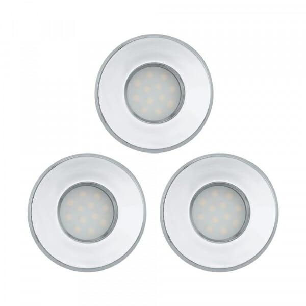 К-т от 3 LED луни за баня Eglo серия Igoa (3 варианта) - хром