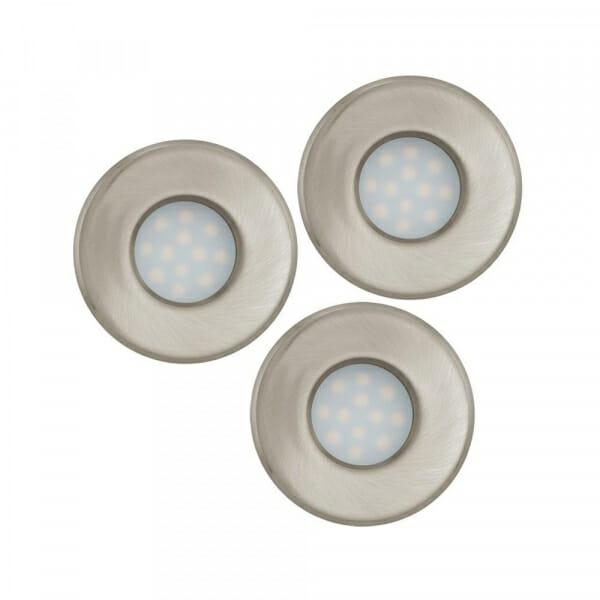 К-т от 3 LED луни за баня Eglo серия Igoa (3 варианта) - никел мат