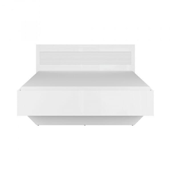 Легло в бял гланц с релефен детайл Флеймс - отпред