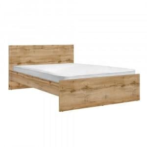 Легло в цвят дъб вотан Зелле за матрак 140 х 200 см