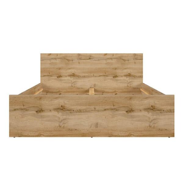Легло за матрак 160 х 200 см в дървесен цвят Зелле - отпред