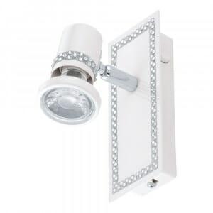 Малък LED спот аплик с кристали Eglo серия Bonares