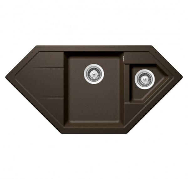 Мивка за кухня с нестандартна форма SCHOCK Signus C150-Bronze