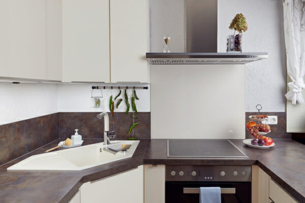 Мивка за кухня с нестандартна форма SCHOCK Signus C150-примерна декорация
