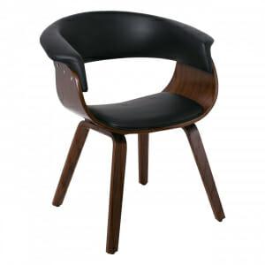 Модерен стол с нестандартна визия в цвят орех