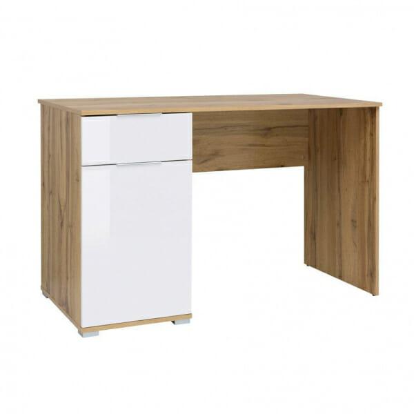 Офис бюро в бяло и дървесен цвят Зелле