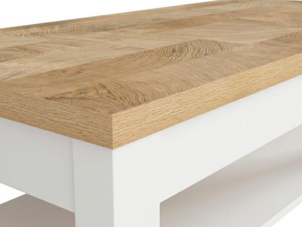 Правоъгълна холна маса в скандинавски стил Древизо - детайл
