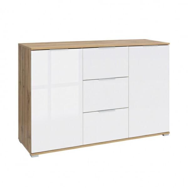 Шкаф с 2 вратички и 3 чекмеджета Зелле
