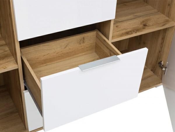 Шкаф с 2 вратички и 3 чекмеджета Зелле - детайл