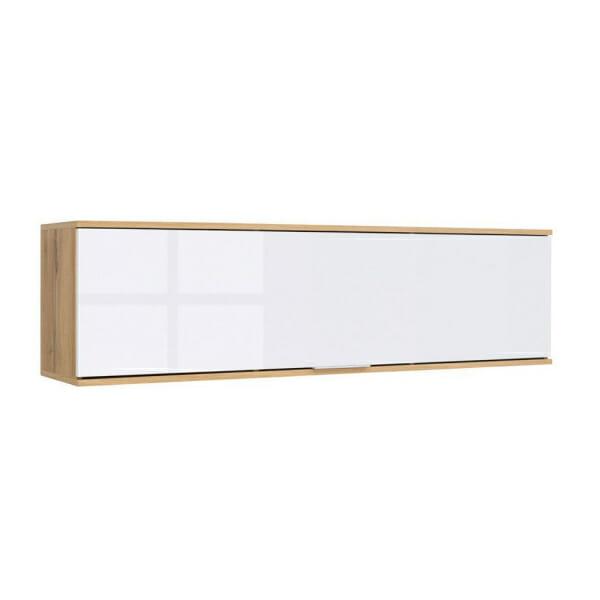 Стенен шкаф с бяла лакирана вратичка Зелле