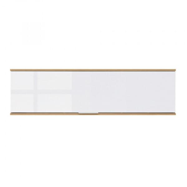Стенен шкаф с бяла лакирана вратичка Зелле - отпред
