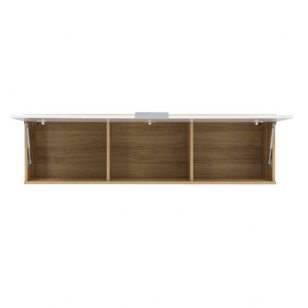 Стенен шкаф с бяла лакирана вратичка Зелле - разпределение