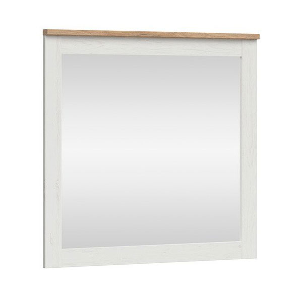 Стенно огледало в светли тонове Локса