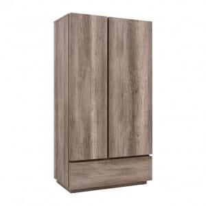 Двукрилен гардероб с чекмедже Антика