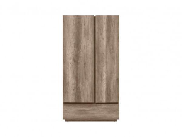 Двукрилен гардероб с чекмедже Антика - отпред