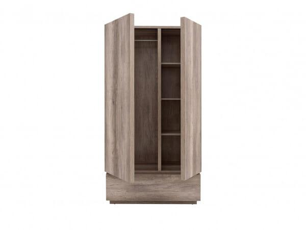 Двукрилен гардероб с чекмедже Антика - разпределение