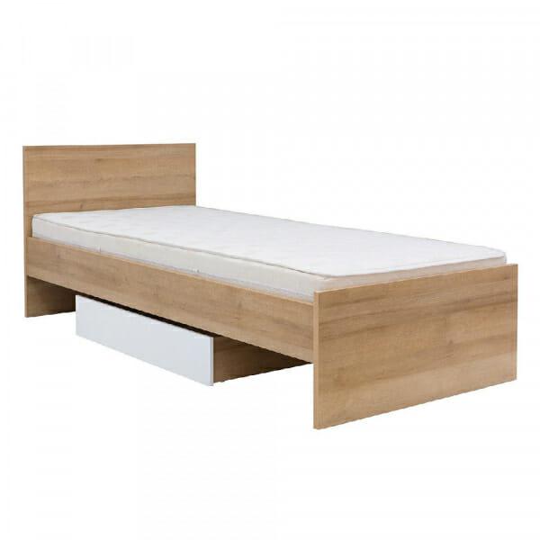 Единично легло в натурален дървесен цвят Балдер