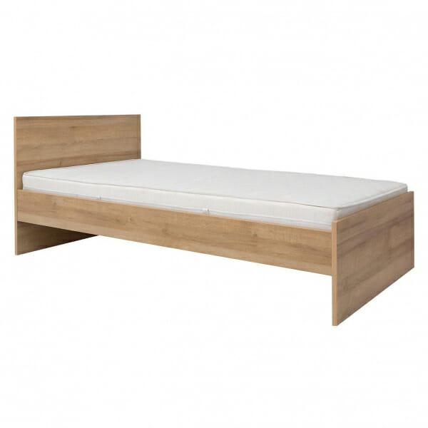 Единично легло в натурален дървесен цвят Балдер - без чекмедже