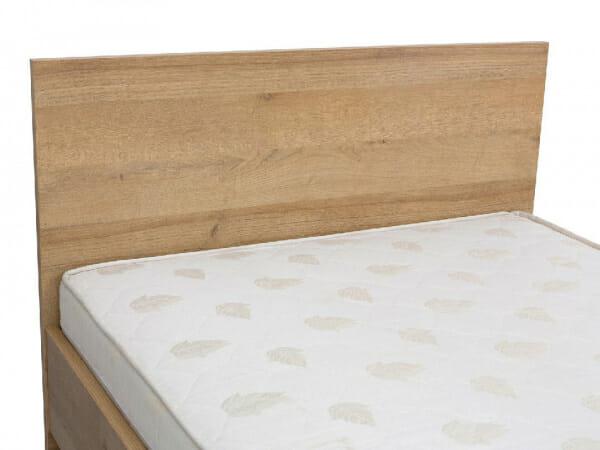 Единично легло в натурален дървесен цвят Балдер - детайл