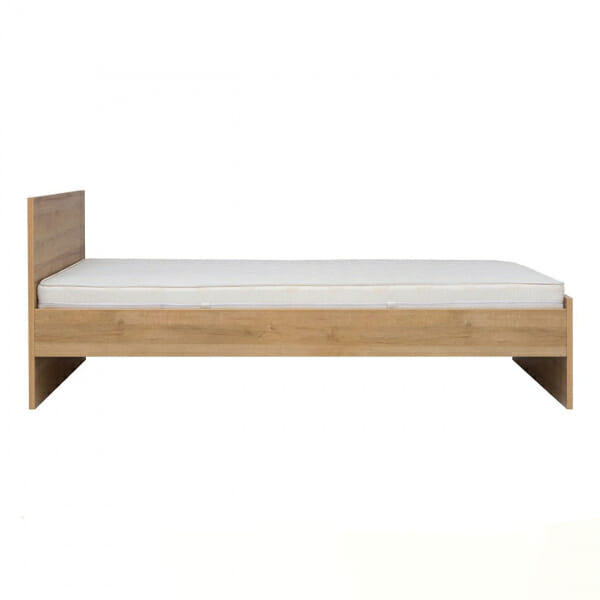 Единично легло в натурален дървесен цвят Балдер - отстрани