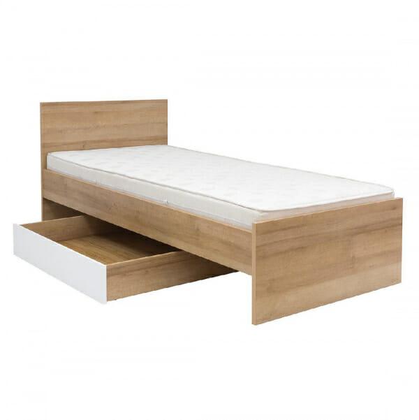 Единично легло в натурален дървесен цвят Балдер - разпределение