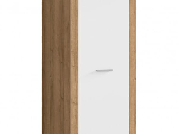 Еднокрилен гардероб в бял гланц Балдер - детайл