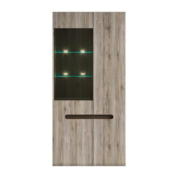Голям шкаф витрина с осветление Ацтека - дъб сан ремо