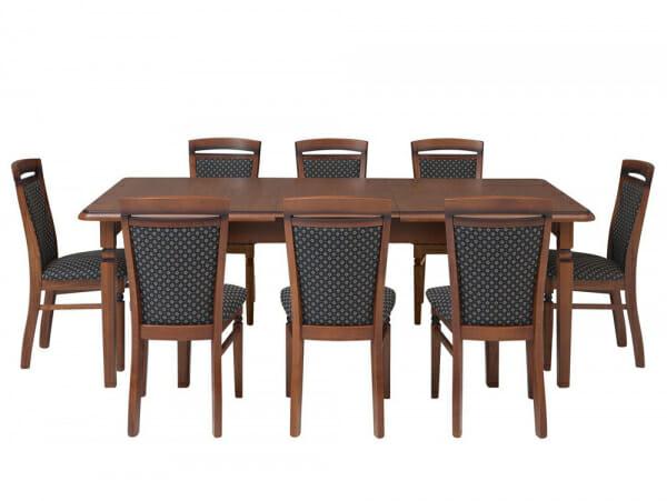 Голяма разтегателна маса от масив Бавария със столове