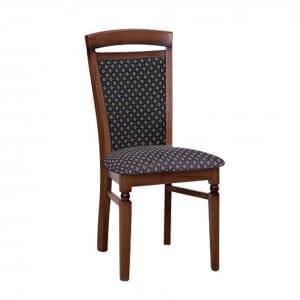 Класически стол от дърво и текстил Бавария - син