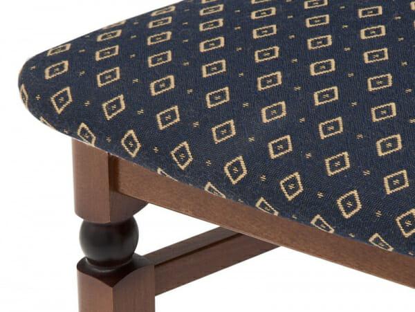 Класически стол от дърво и текстил Бавария - син детайл