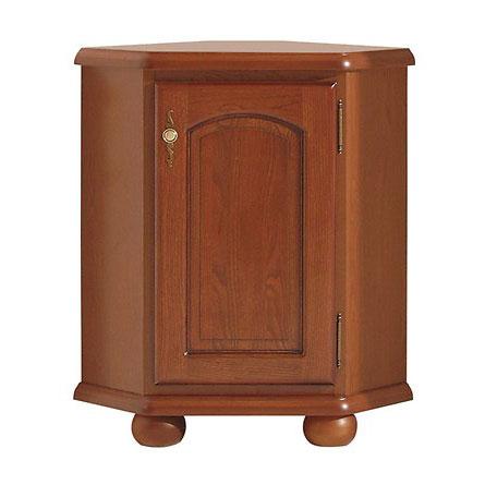 Класически ъглов шкаф с дървена вратичка Бавария