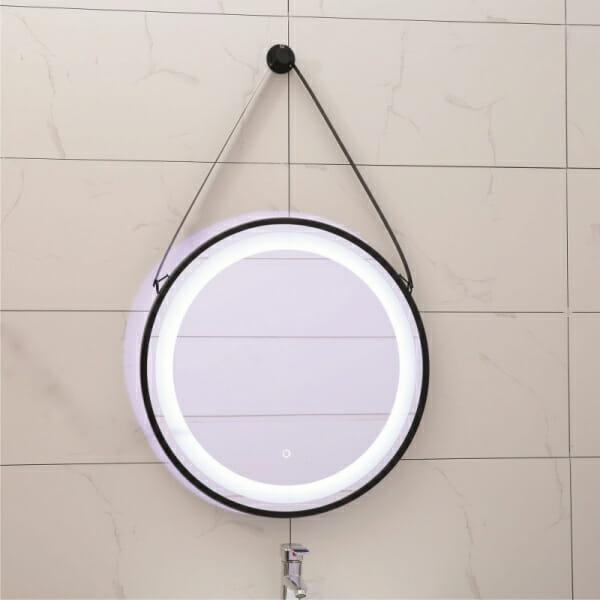 Кръгло LED огледало за баня