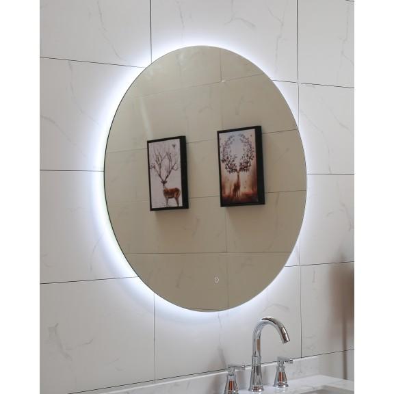 Кръгло LED огледало за баня - неутрална светлина