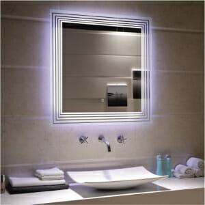 Квадратно LED огледало за баня