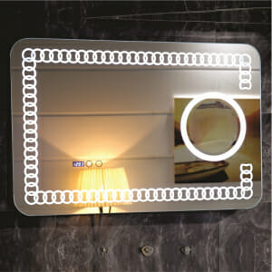 LED огледало за баня с екстри