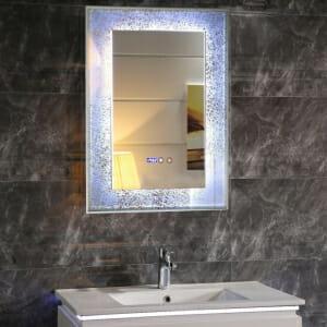 LED огледало за баня с атрактивна рамка