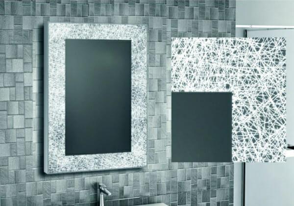 LED огледало за баня с атрактивна рамка-детайли
