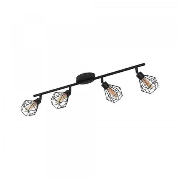 LED спот в индустриален стил Eglo серия Zapata 1 (6 варианта) - 4 тела, черно