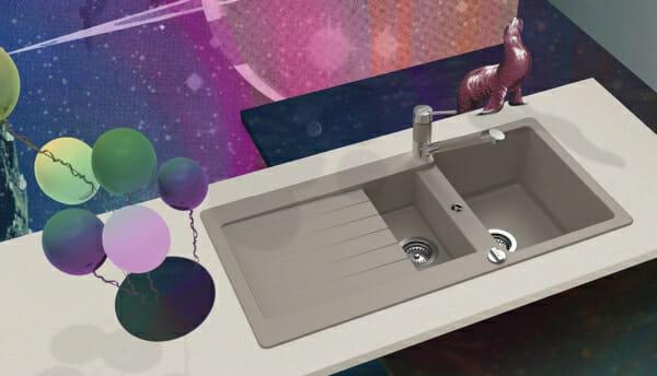 Луксозна гранитна мивка SCHOCK TYPOS D150-пример