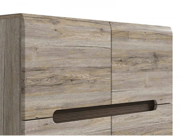 Модерен шкаф с 4 вратички Ацтека - дъб сан ремо - детайл