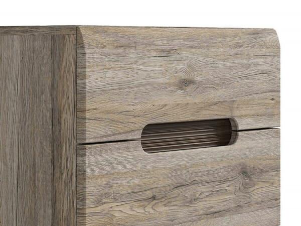 Модерен скрин с 5 чекмеджета Ацтека - дъб сан ремо - детайл