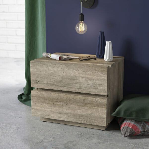 Модерно нощно шкафче в дървесен цвят Антика - декор
