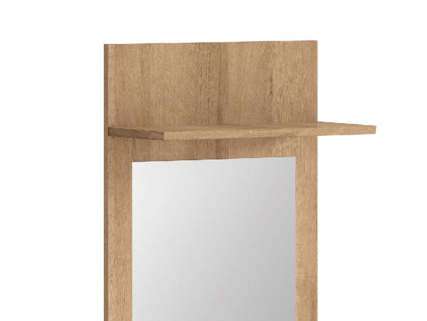 Огледало за антре със заден панел и рафт Балдер - детайл
